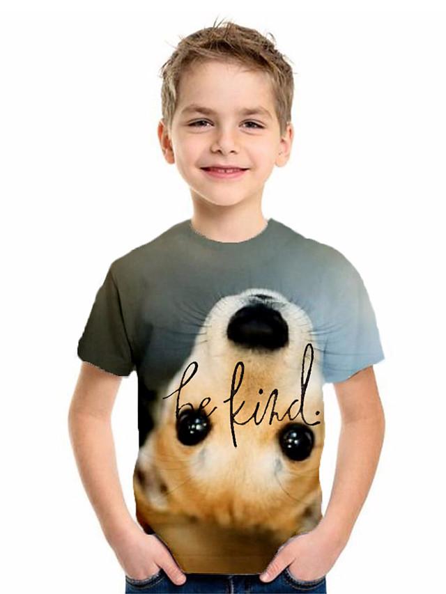 Kids Boys' Basic Animal Print Short Sleeve Tee Green