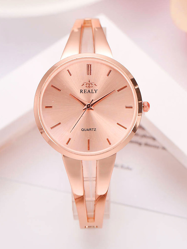 Women's Quartz Watches Quartz Modern Style Stylish Elegant Casual Watch Silver / Gold / Rose Gold Analog - Rose Gold Gold Silver One Year Battery Life