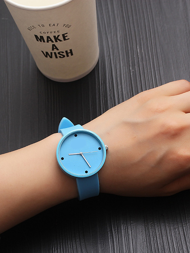 Women's Quartz Watches Quartz Stylish Fashion Casual Watch PU Leather Black / Blue Analog - White Black Blue One Year Battery Life
