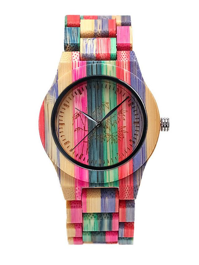 Unisex Digital Watch Quartz Stylish Fashion Adorable Analog Blushing Pink Orange Green / Wood / Japanese / Japanese