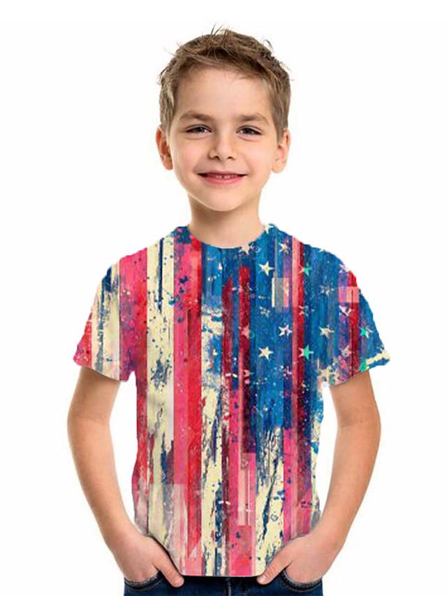 Kids Boys' Basic Flag Short Sleeve Tee Rainbow