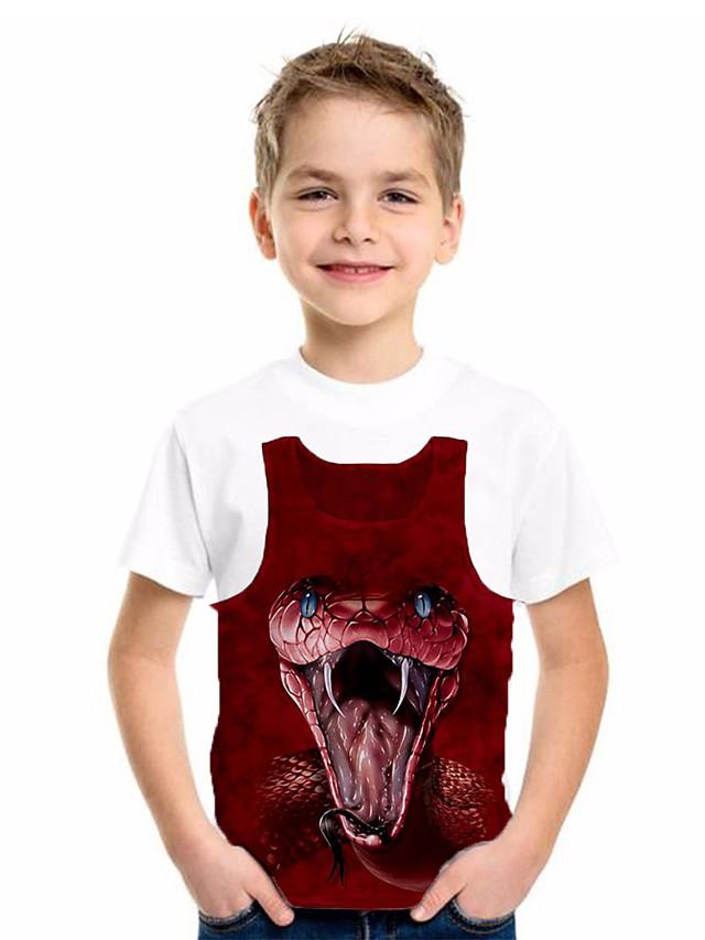 Kids Boys' Basic Fantastic Beasts Animal Print Short Sleeve Tee White