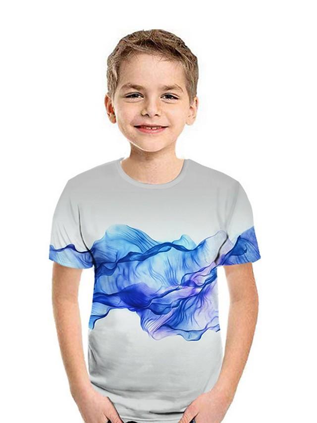 Kids Boys' Street chic Geometric Short Sleeve Tee Black