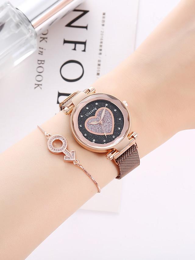 Women's Quartz Watches Quartz Modern Style Fashion Chronograph Analog - Black Brown / Imitation Diamond