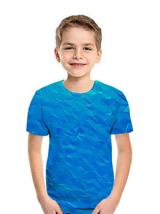Kids Boys' Street chic Geometric Short Sleeve Tee Blue