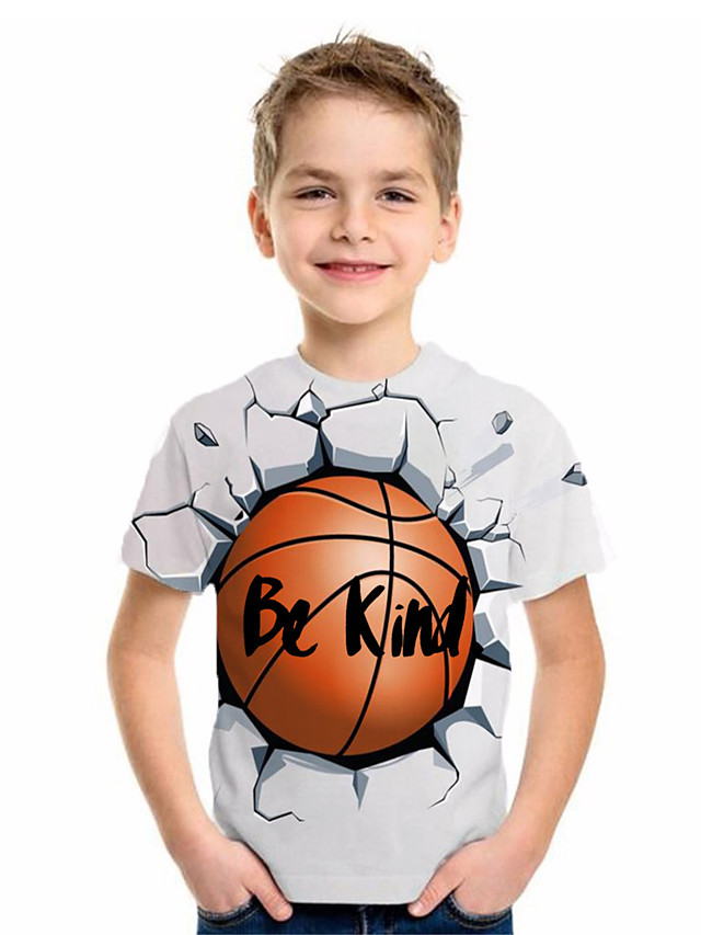 Kids Boys' Basic Animal Print Short Sleeve Tee White