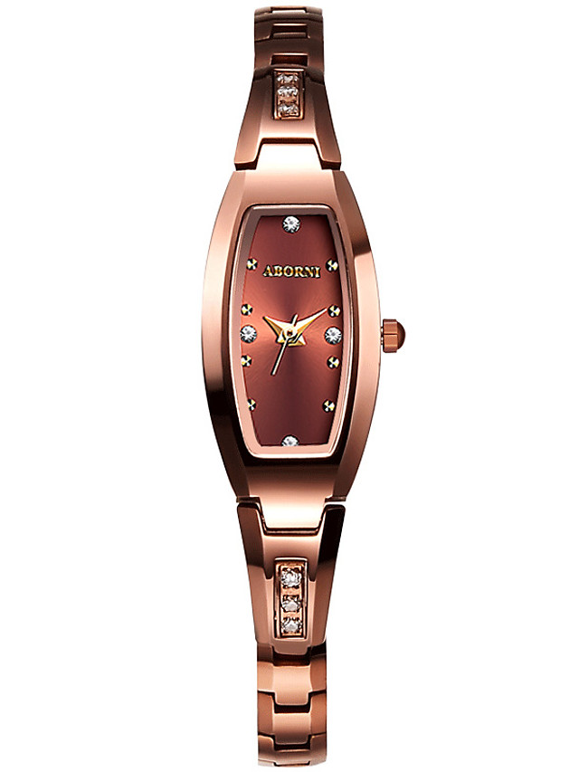 Women's Steel Band Watches Quartz Stylish Glitter Elegant Water Resistant / Waterproof Stainless Steel Analog - Rose Gold