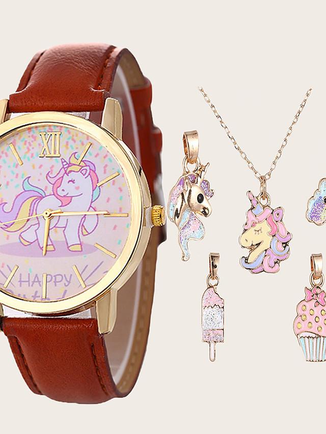 Kids Quartz Watches Quartz Novelty Stylish Fashion Chronograph PU Leather Brown Analog - Brown