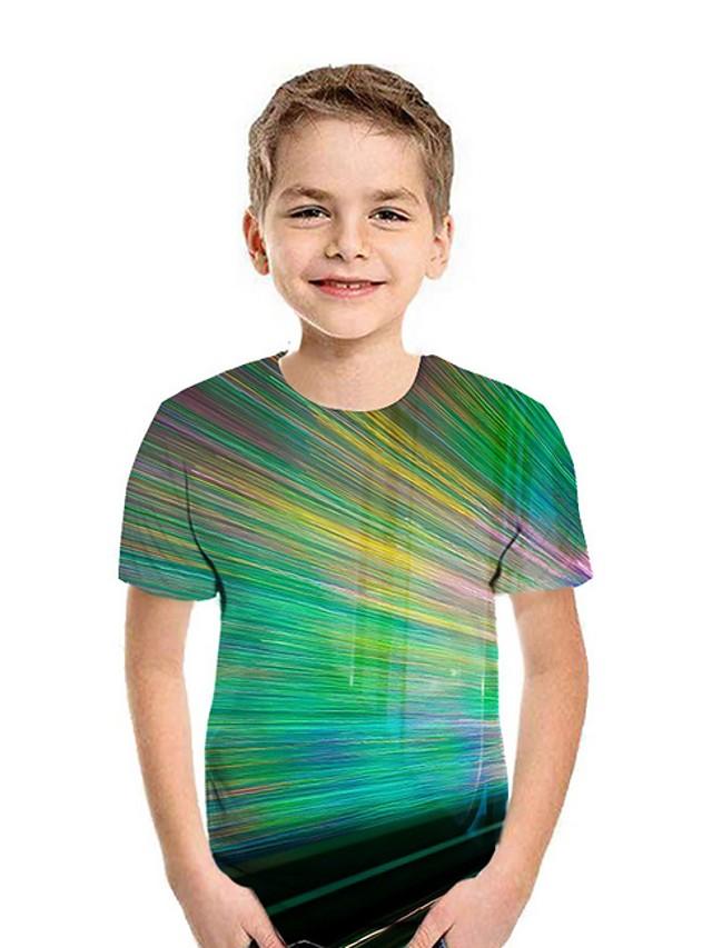 Kids Boys' Street chic 3D Short Sleeve Tee Green