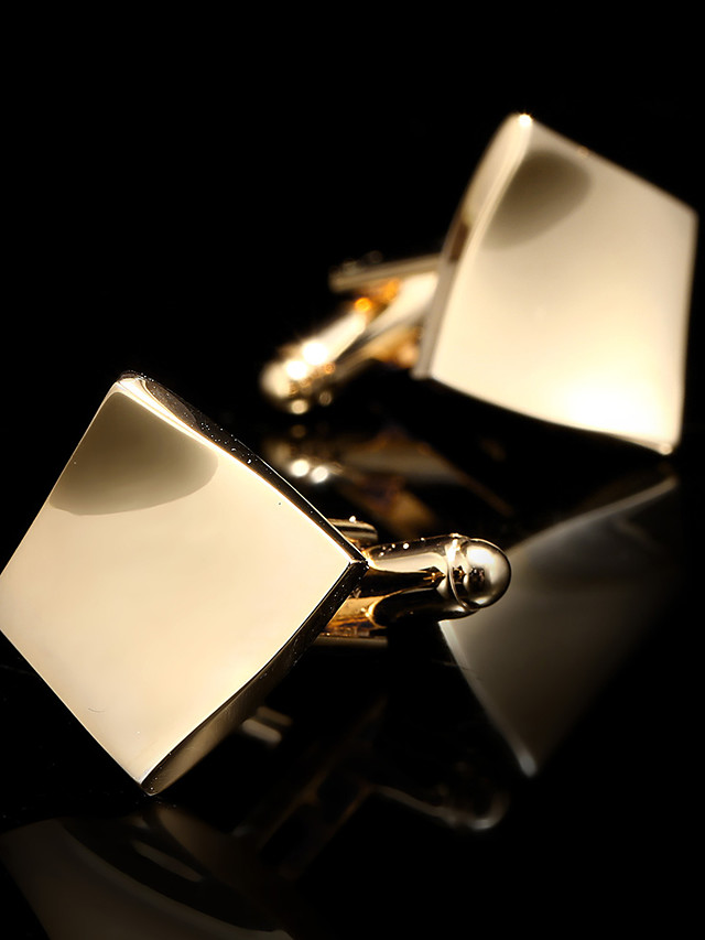 Cufflinks Fashion Brooch Jewelry Golden For Gift Daily