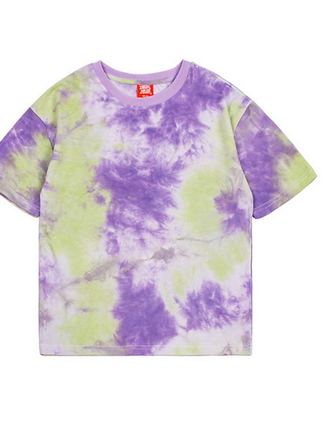 Kids Boys' Street chic Tie Dye Short Sleeve Tee Purple