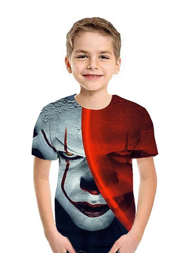 Kids Boys' Street chic 3D Short Sleeve Tee Red