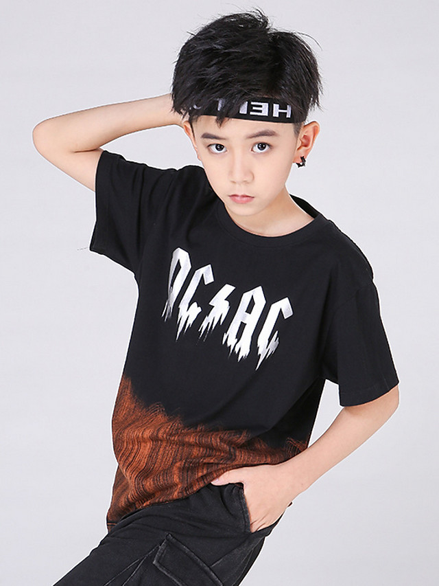 Kids Boys' Street chic Tie Dye Short Sleeve Tee Black