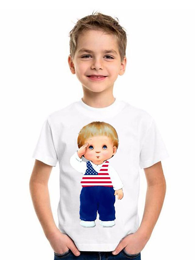 Kids Boys' Basic Geometric Short Sleeve Tee White