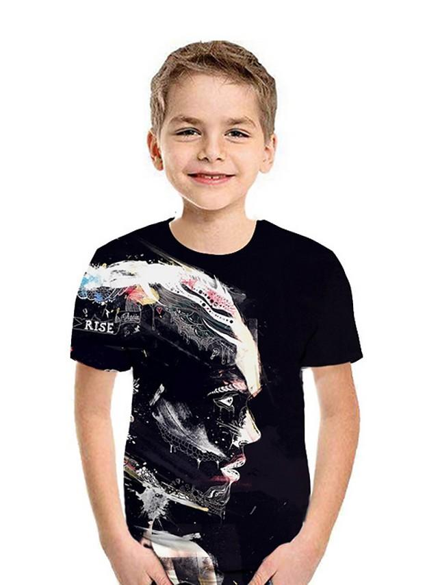 Kids Boys' Street chic Color Block Short Sleeve Tee Black