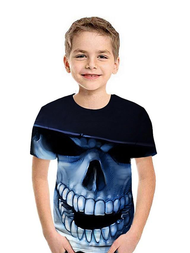 Kids Boys' Street chic Color Block Short Sleeve Tee Blue