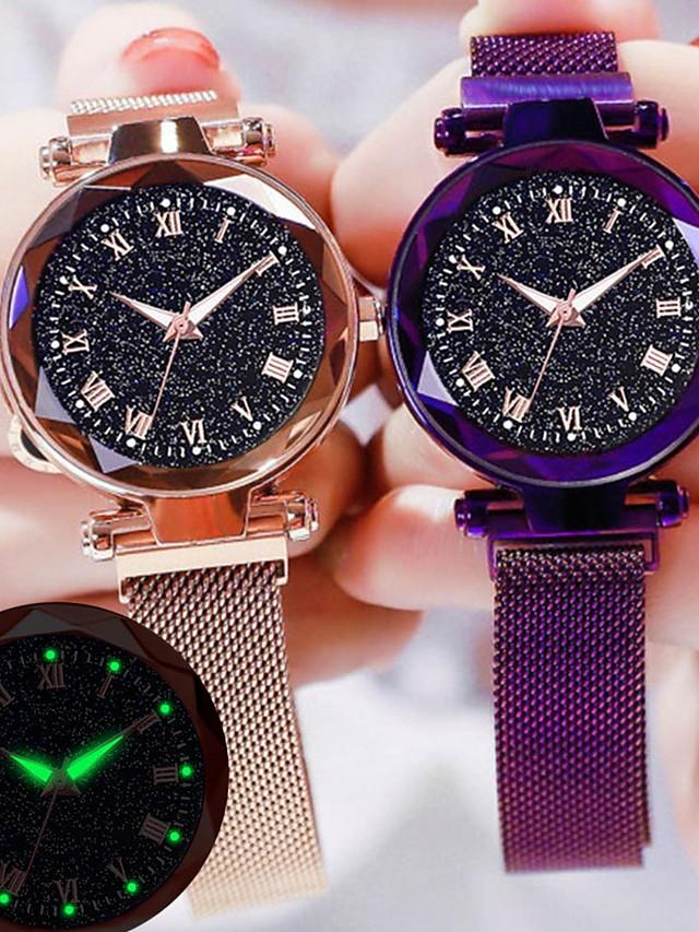 Women's Quartz Watches Quartz Stylish Casual Casual Watch Black / Red / Purple Analog - Rose Gold Black Blue One Year Battery Life