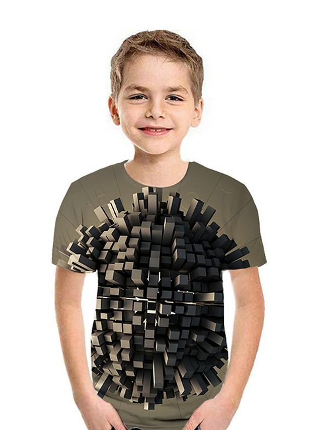 Kids Boys' Street chic Geometric Short Sleeve Tee Wine