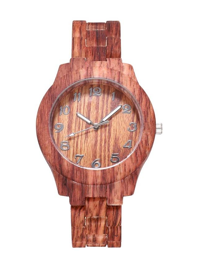 Women's Quartz Watches Quartz Stylish Fashion Adorable Wood Brown Analog - Wood White Brown One Year Battery Life