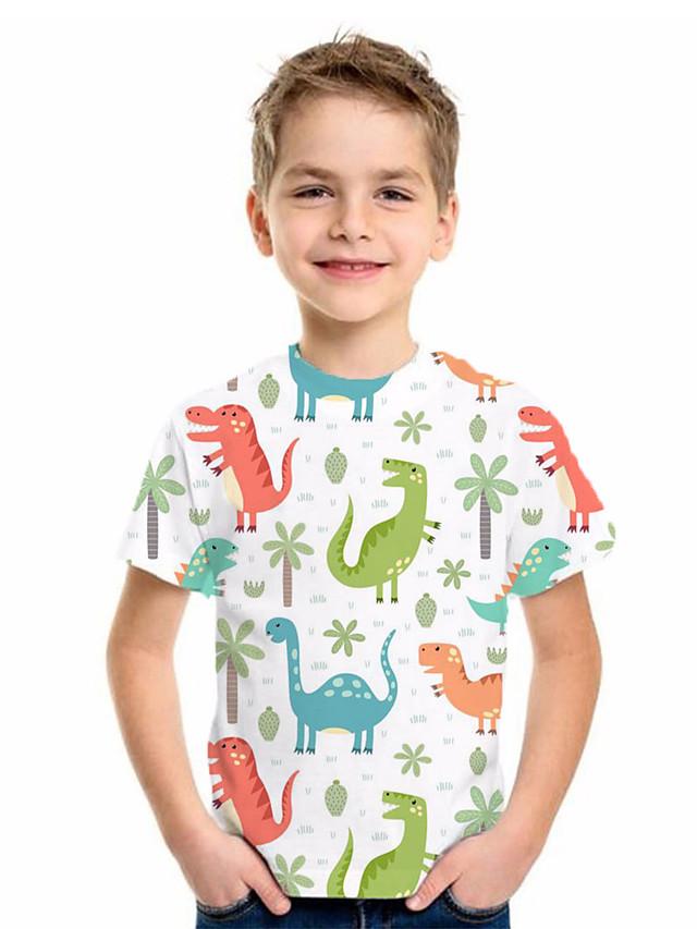 Kids Boys' Basic Animal Print Short Sleeve Tee Beige