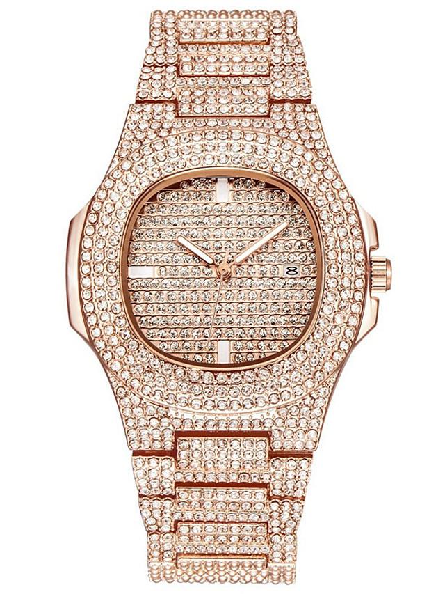Women's Quartz Watches Quartz Glitter Elegant Water Resistant / Waterproof Stainless Steel Silver / Gold / Rose Gold Analog - Rose Gold Gold Silver