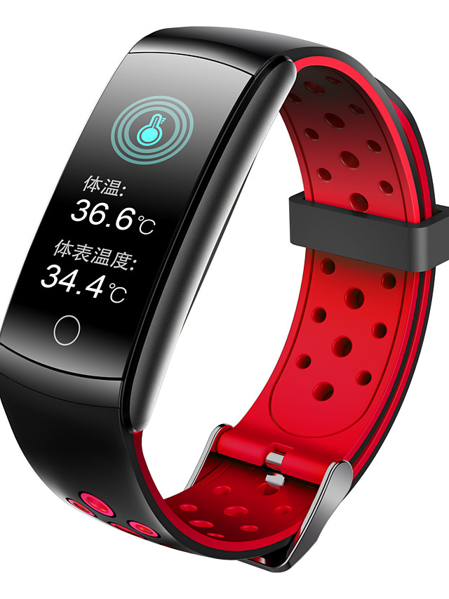 696 Q8T Unisex Smart Wristbands Android iOS Bluetooth Heart Rate Monitor Blood Pressure Measurement Sports Thermometer Health Care Pedometer Activity Tracker Sleep Tracker Sedentary Reminder Find My