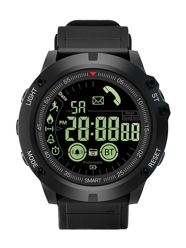 EX17S Unisex Smartwatch Android iOS Bluetooth Waterproof Heart Rate Monitor Sports Calories Burned Long Standby Stopwatch Pedometer Call Reminder Sleep Tracker Alarm Clock