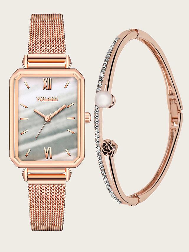 Women's Quartz Watches Quartz Modern Style Stylish New Arrival Chronograph Rose Gold Analog - White Blue Red