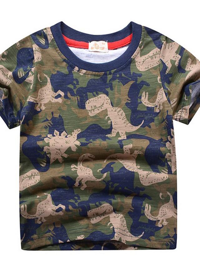 Kids Boys' Street chic Animal Short Sleeve Tee Army Green