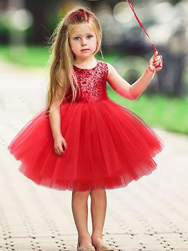 Kids Toddler Girls' Active Basic Solid Colored Christmas Sleeveless Dress Black