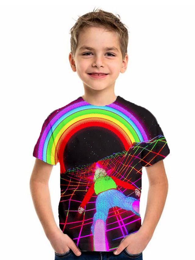 Kids Boys' Basic Holiday Rainbow Short Sleeve Tee Rainbow