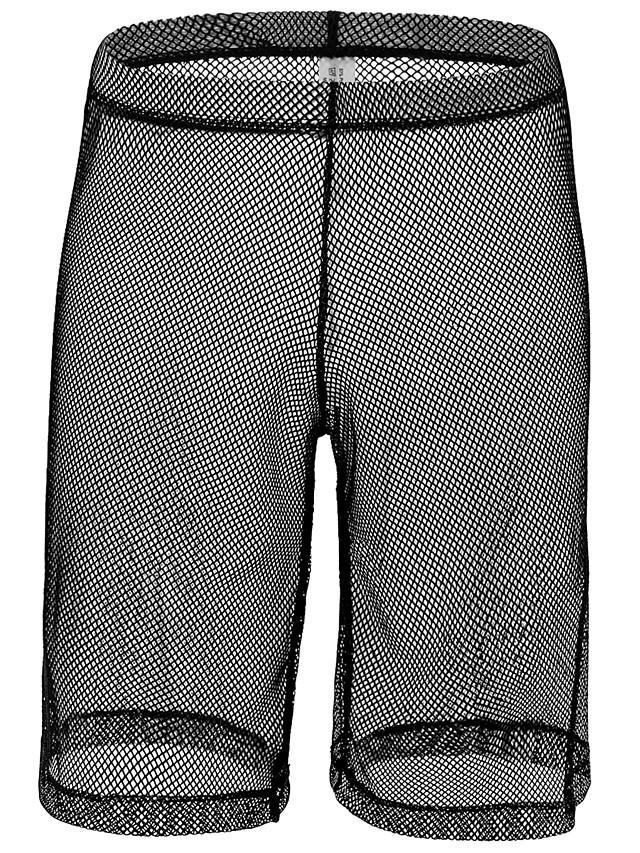 Men's Mesh Boxers Underwear - Normal Low Waist White Black Red S M L