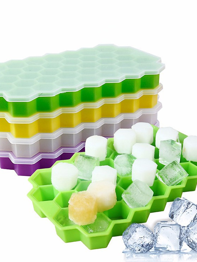 Silicon Ice Cube Tray and Mold with 37 Grids 1 Pc