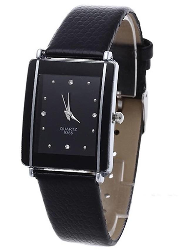 Women's Quartz Watches Quartz Stylish Fashion Adorable PU Leather Black Analog - Black One Year Battery Life