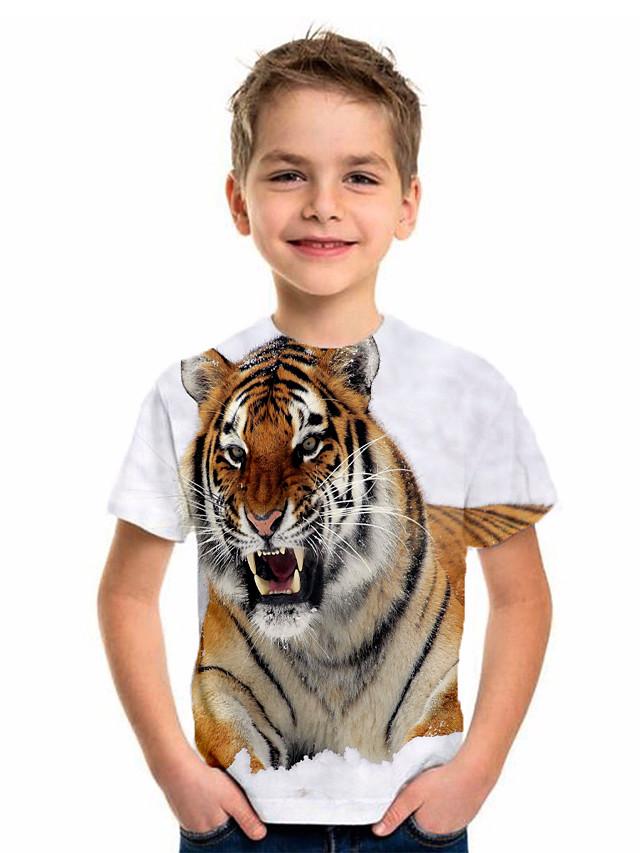 Kids Boys' Basic Holiday Geometric Print Short Sleeve Tee Gray
