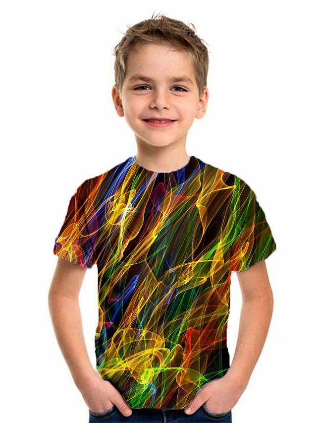 Kids Boys' Basic Holiday Geometric Print Short Sleeve Tee Green