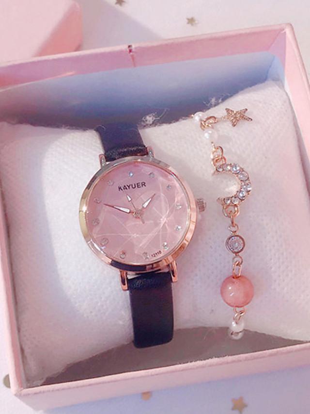 Women's Quartz Watches Quartz Modern Style Stylish Classic Chronograph Analog Rose Gold White Black / PU Leather