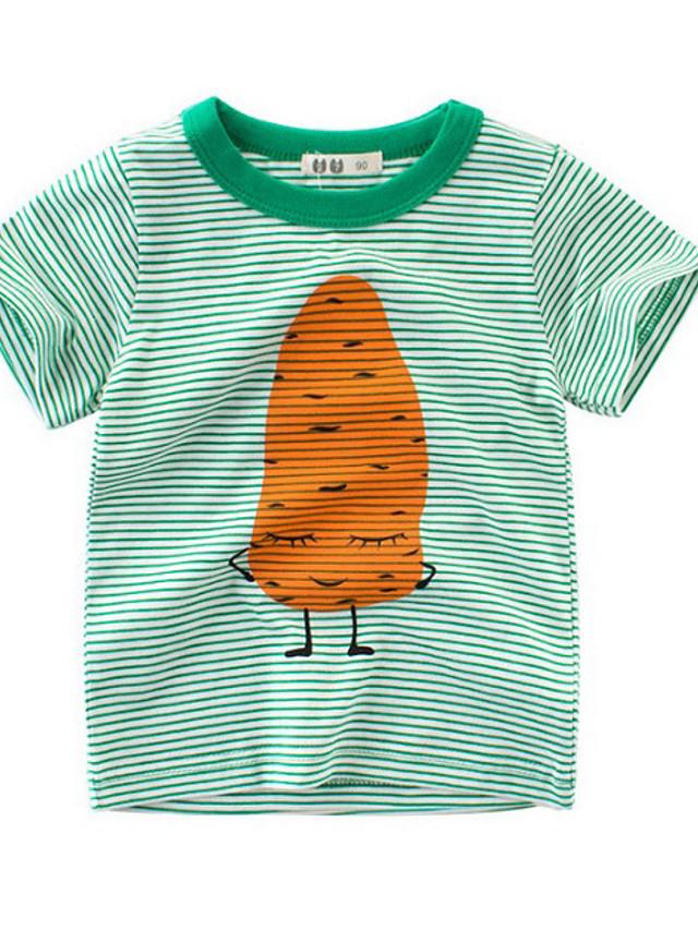 Kids Boys' Street chic Striped Short Sleeve Tee Green