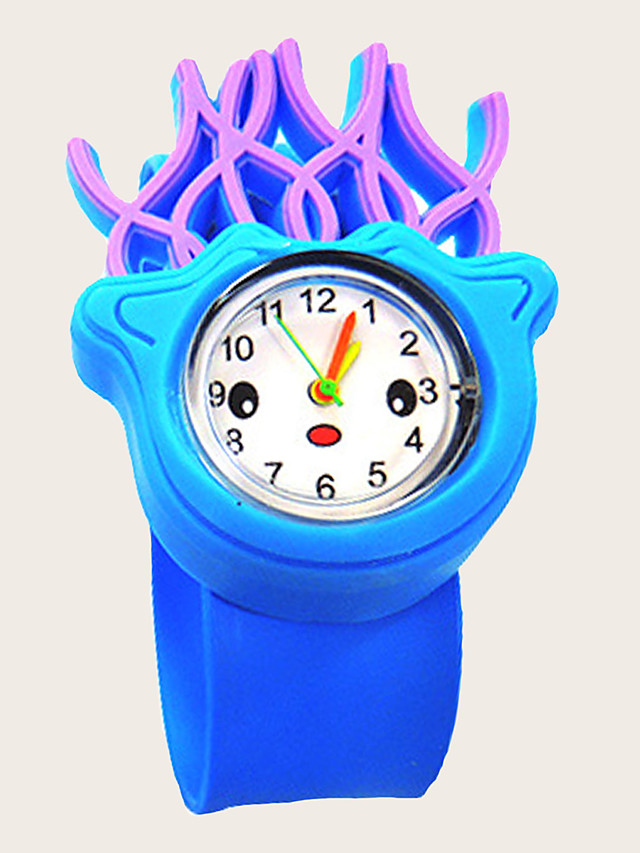 Kids Quartz Watches Quartz New Arrival Chronograph Silicone Blue Analog - Blue