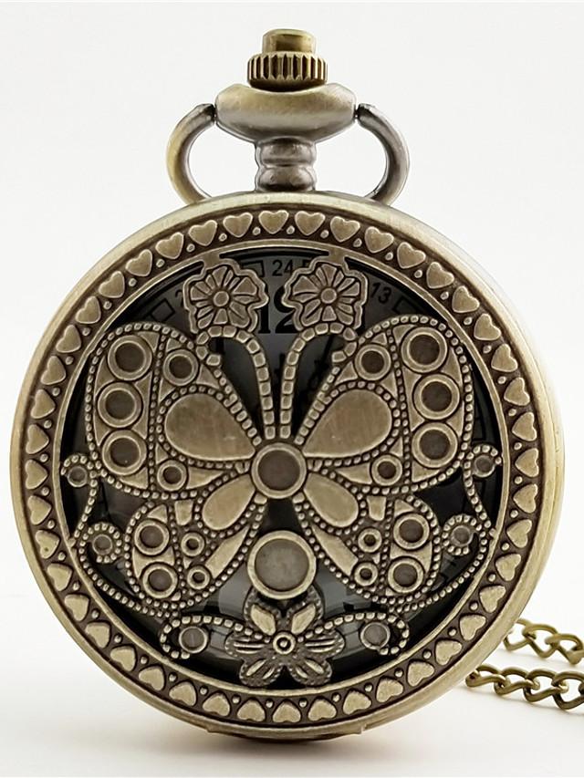 Women's Quartz Watches Quartz Vintage Style Vintage Chronograph Bronze Analog - Bronze / Hollow Engraving / Luminous