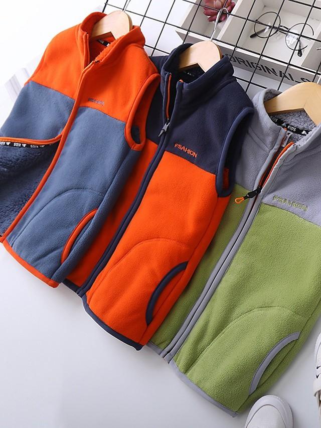 Kids Boys' Basic Dinosaur Color Block Long Sleeve Tee Orange