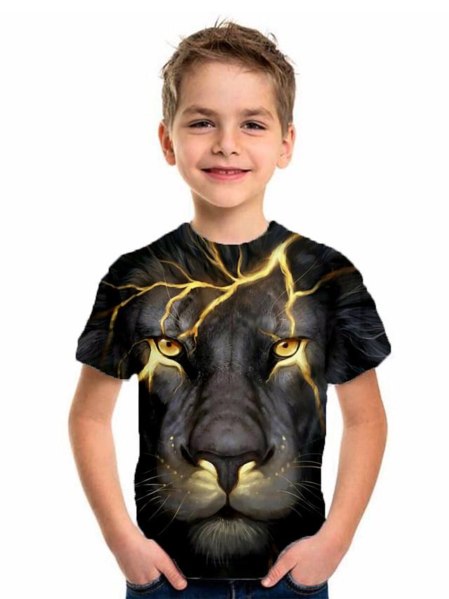 Kids Boys' Basic Holiday Geometric Print Short Sleeve Tee Black
