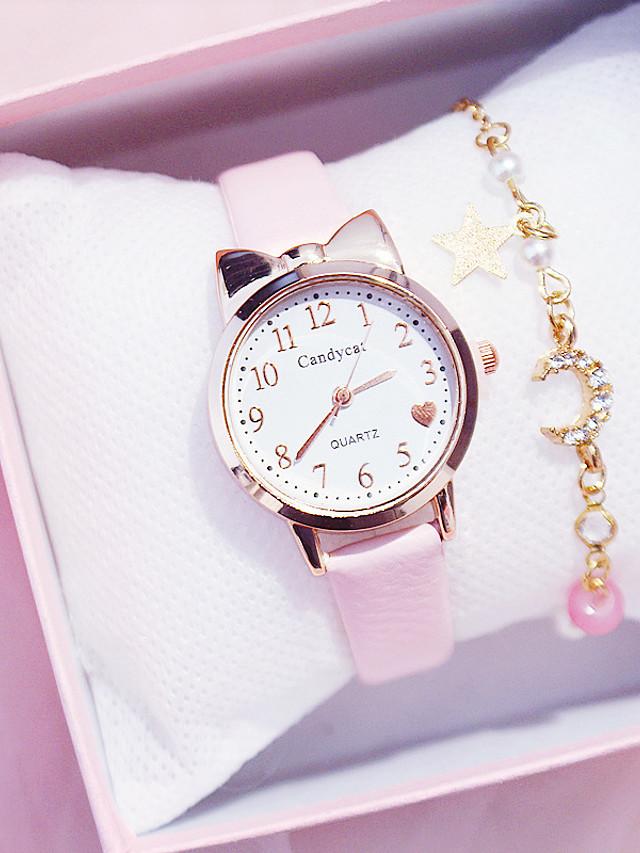 Kids Quartz Watches Analog Quartz Modern Style Stylish Colorful Chronograph Cute Creative / PU Leather