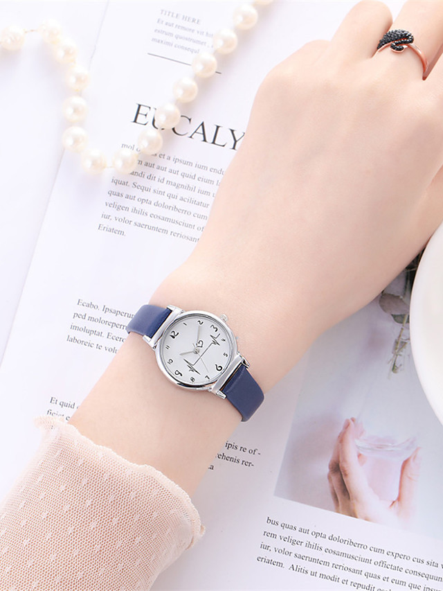 Women's Quartz Watches Quartz Stylish Fashion Adorable Analog White Black Blue / One Year / PU Leather / One Year