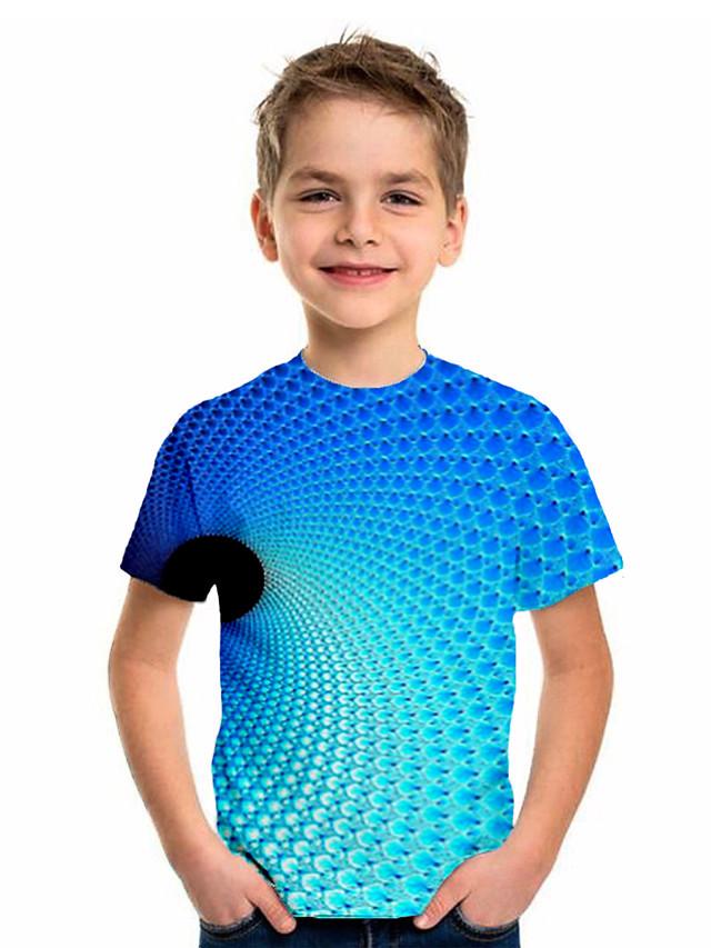 Kids Boys' Sports & Outdoors Basic Holiday Geometric Short Sleeve Tee Blue