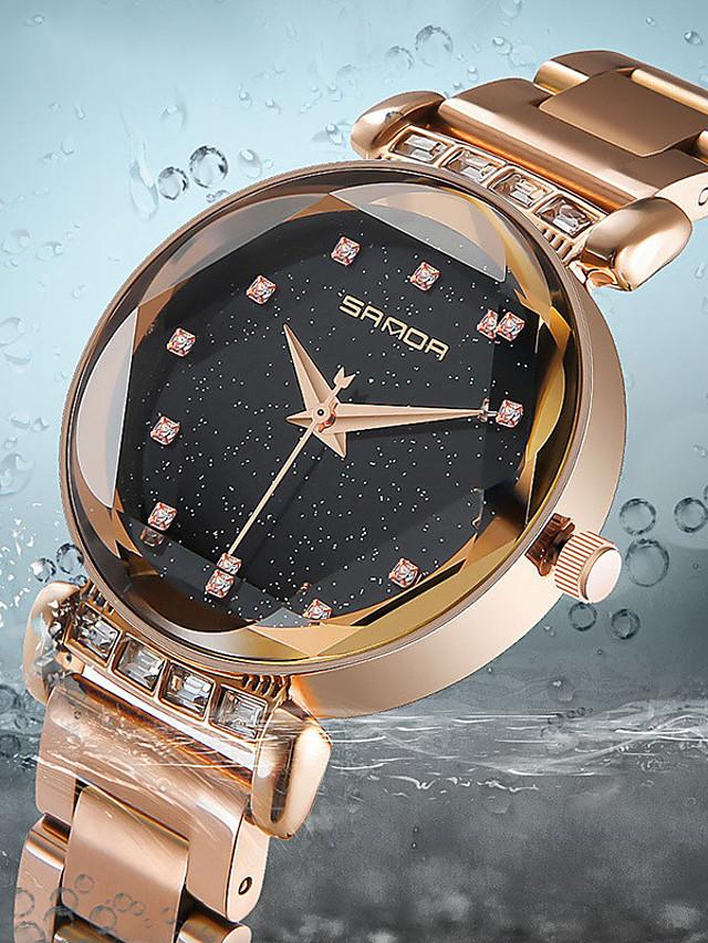 Women's Quartz Watches Quartz Stylish Fashion Casual Watch Black Analog - Rose Gold Black Blue One Year Battery Life
