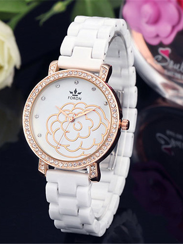 Women's Quartz Watches Quartz Modern Style Stylish Casual Water Resistant / Waterproof Ceramic Analog - Gold Silver