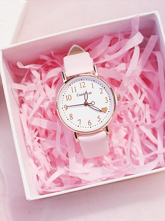Women's Quartz Watches Quartz Modern Style Stylish Fashion Chronograph PU Leather Black / White / Pink Analog - White Black Blushing Pink