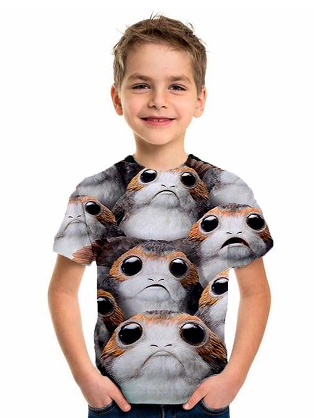Kids Boys' Basic Holiday Animal Short Sleeve Tee Gray