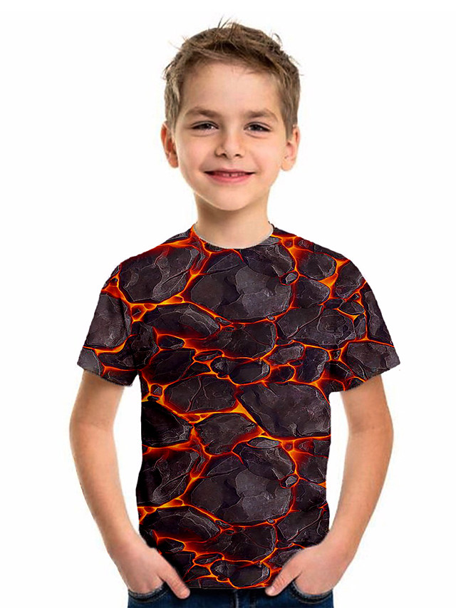 Kids Boys' Sports & Outdoors Basic Holiday Jacquard Short Sleeve Tee Black